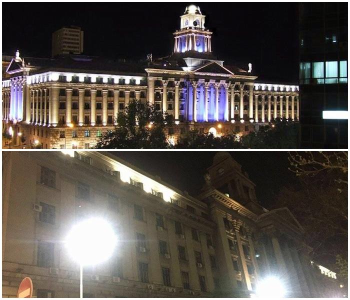 Зграда Железница Србије некада (слика горе) и данас (слика доле) Фото: Београдске.рс