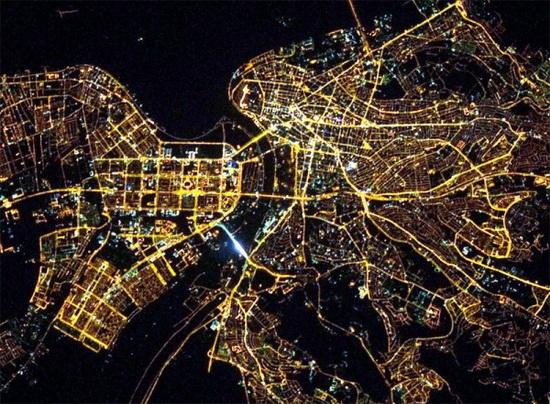 Београд из свемира Фото: Анатоли Иванишев