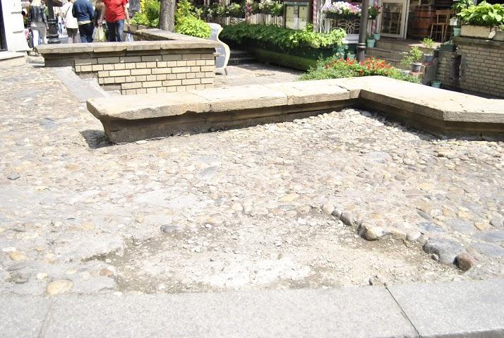 Раскопан плато код Скадарлијске чесме Фото: Београдске.рс