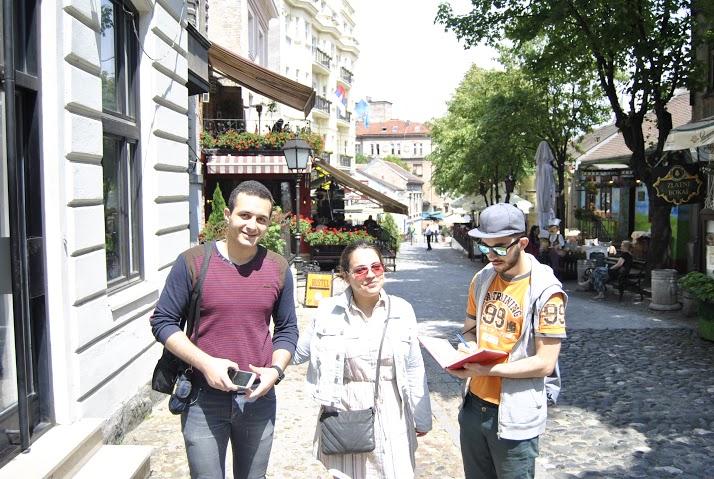 Оскар и Мариана из Шпаније одушевљени Скадарлијом Фото: Милош Старчевић, Београдске.рс