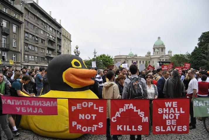 Жута патка, звезда  протеста.
