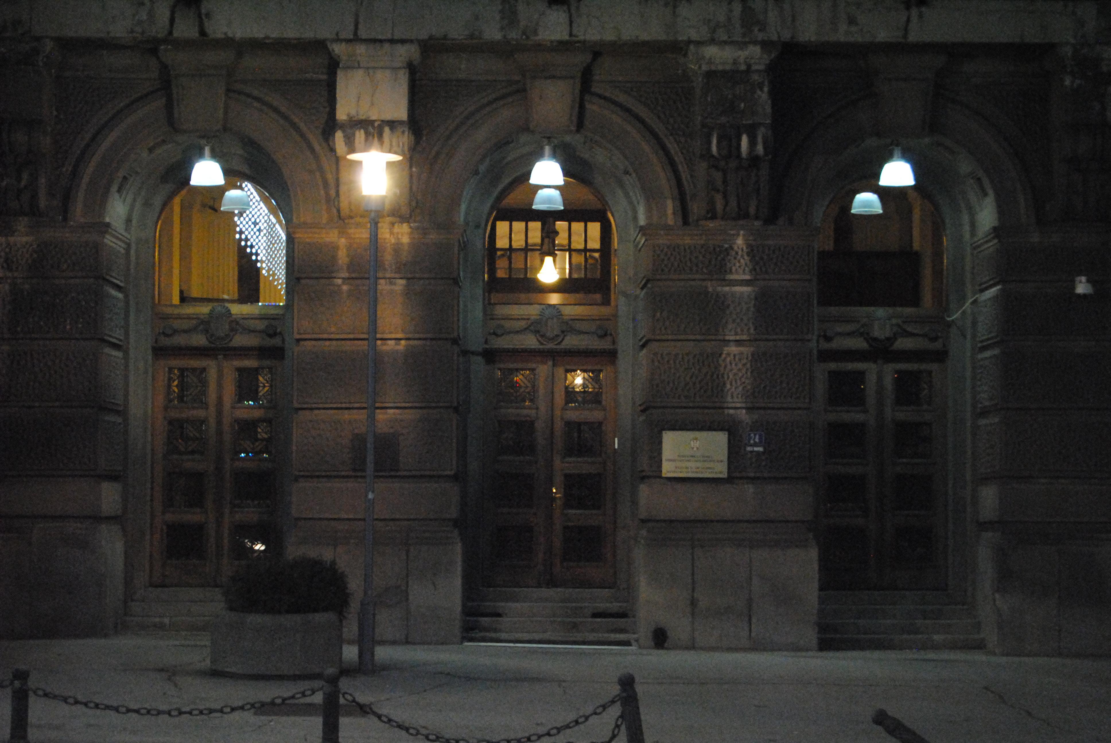 Сијалице на улазу у објекат МСП Фото: Београдске.рс