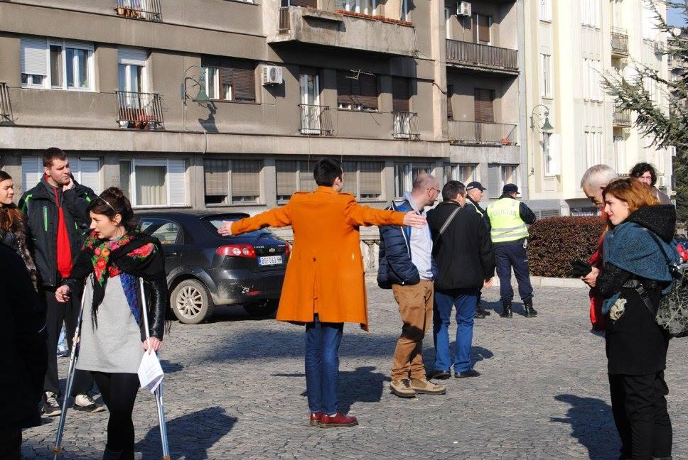 """Добрица Веселиновић Иницијатива """"Не давимо Београд"""" уочи протеста."""