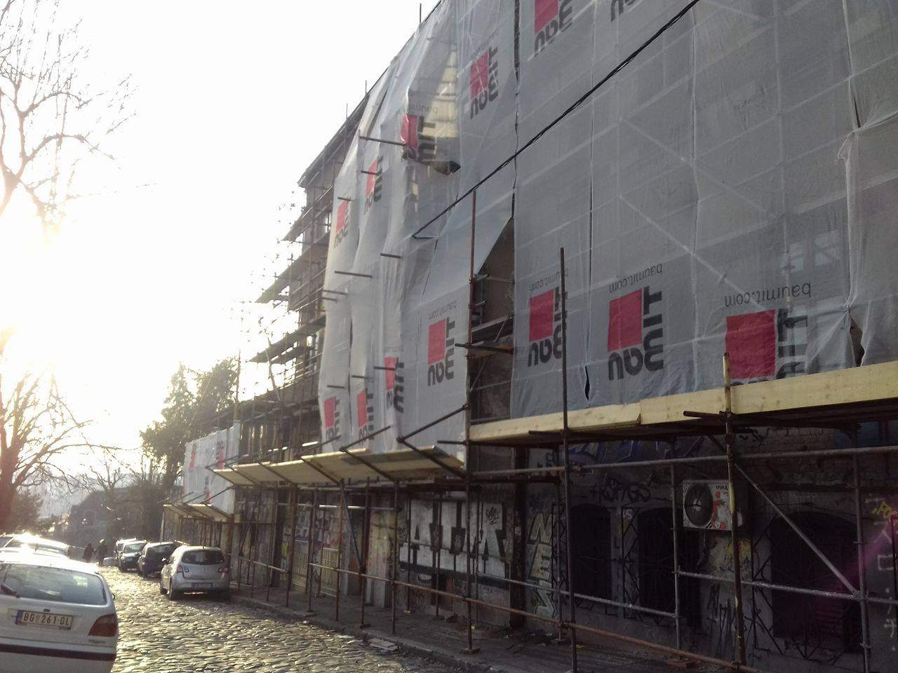 Фасаде у Фрушкогорској  улици Фото: Београдске.рс