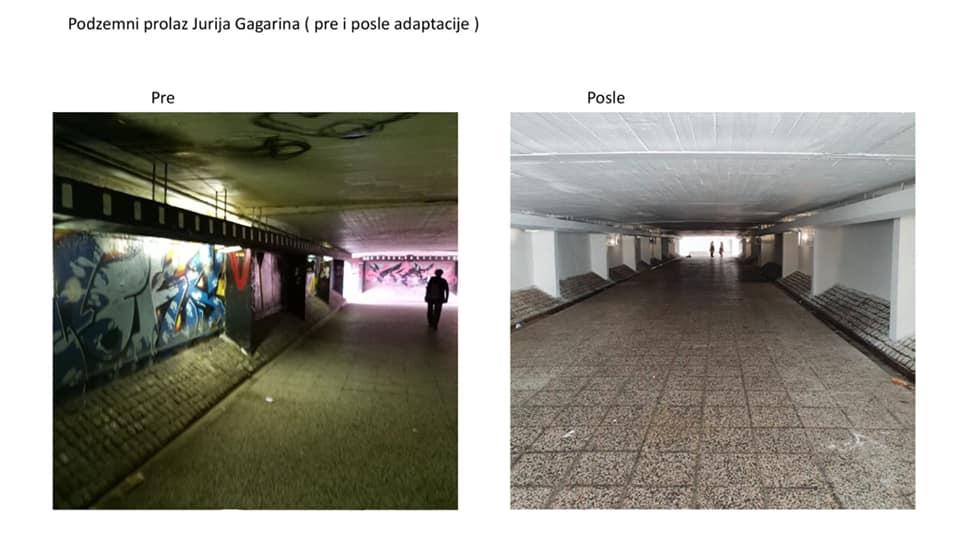 Сређивање подземних пролаза